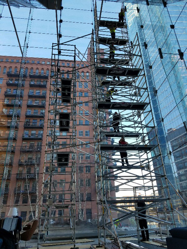 Instant Upright Aluminum Scaffold Glass Metal